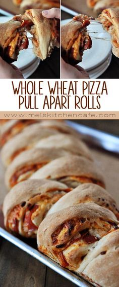 A delicious and healthy recipe for whole wheat pizza pull apart rolls complete with pictures on how to make the pizza rolls. Easy and delicious! Frugal Meals, Easy Meals, Food Dishes, Main Dishes, Good Food, Yummy Food, Tasty, Whole Wheat Pizza, Pizza Rolls
