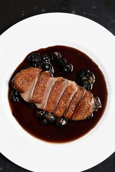 Getting fruity: Mark's duck with blueberries
