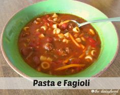 Pasta e Fagioli Recipe~ We love Pasta e Fagioli soup! When I began eating a low fat, low sodium diet, Olive Garden's soup was no longer an option. This is my heart healthy version!