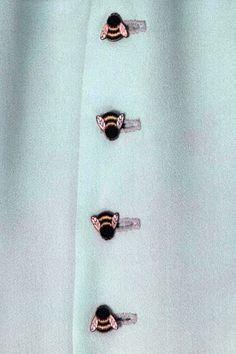 Buttons on a Bill Gibb dress