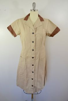 Vintage 1960's WAITRESS or UNIFORM dress Size 36 Made in USA by Angelica by ilovevintagestuff on Etsy