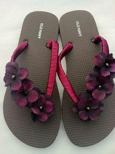 0cc1d6c32 DIY  Flower flip flops Flip Flop Sandals