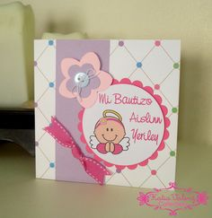 Invitaciones Originales y Creativas: Invitaciones de Bautizo Baby Shower Cupcakes For Boy, Baby Shower Cakes, Christening Invitations, Baby Shower Invitations, Baby Shower Backdrop, Baby Christening, Baby Cards, My Baby Girl, Cardmaking