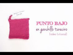 Cómo hacer punto bajo ganchillo tunecino | Tunisian crochet single stitch