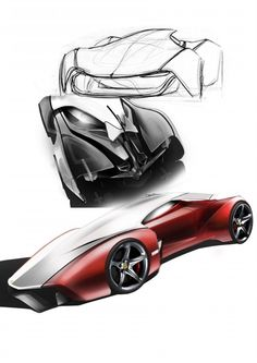 sketches for Ferrari