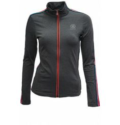 **SALE** This innovative Second Layer is more versatile than a Zippshirt, lighter than a fleece jacket, but just as warm and functional. With decorative band adorned shoulders and sleeves, this reflector piping at collar and zipper, the Madeleine jacket by Bogner Fire + Ice also looks good! Bogner's Fire & Ice is the home of functionality, innovative sportswear with a touch of class: a young and exciting mix of functional active wear and the classic sophisticated style. Ski Fashion, Fashion Women, Working Hard, Sophisticated Style, Spring 2014, Sale Items, Motorcycle Jacket, Skiing, Ski