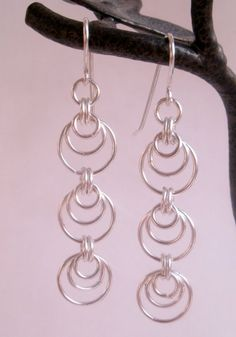 chainmaille Earrings Silver
