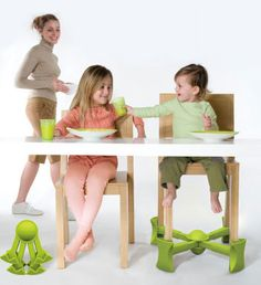 KABOOST increases the height of any 4-legged chair while also improving chair stability with a wider base. In fact, a chair with KABOOST is actually more stable than the same chair without KABOOST. Your child will love the increased independence and inclusiveness that KABOOST offers!