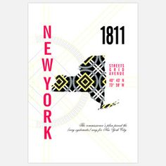 New York Map Print. Good times were had while a member of the tax base in N.Y..