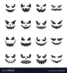 Find Pumpkin Face Set Decoration Halloween Celebration stock images in HD and millions of other royalty-free stock photos, illustrations and vectors in the Shutterstock collection. Thousands of new, high-quality pictures added every day. Halloween Vector, Halloween Eyes, Halloween Poster, Halloween Drawings, Halloween Projects, Creepy Smile, Creepy Eyes, Halloween Pumpkin Carving Stencils, Scary Pumpkin Carving