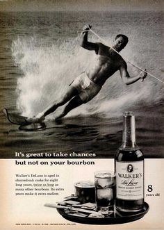 Walkers Deluxe 8 year old Bourbon Whiskey Ad Circa 1960