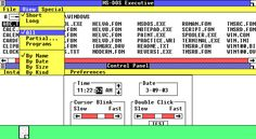 Desktop with applications in Windows 1.01