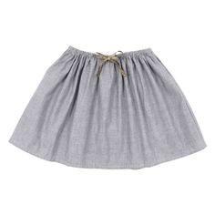 Violette skirt seersucker blue NORO ss13