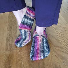 Zapatillas indecisos - Gratuito de Punto Patrón de punto y así sucesivamente
