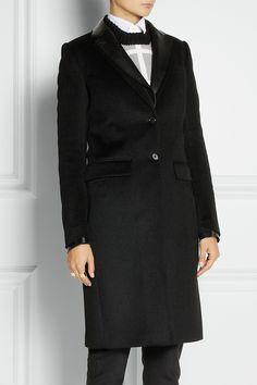 Joseph|Dakota leather-trimmed wool and cashmere-blend coat|NET-A-PORTER.COM