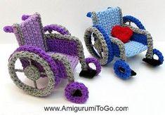 Wheelchairs - free crochet pattern