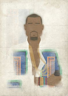 This poster print is of Kanye West and his much coveted look from his performance at the Coachella festival 2011.