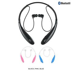 Neck-Strap-Style Stereo Bluetooth Headset - Assorted Colors