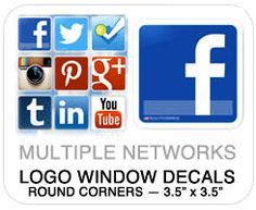 social media stickers - Google Search