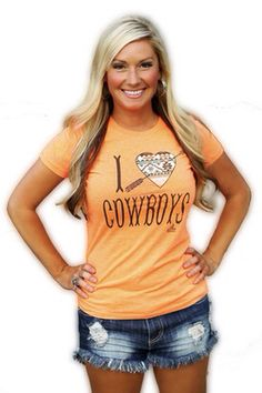 "Ali Dee Collection ""I Heart Cowboys"" tee. Available for purchase at www.pistolanniesboutique.com"