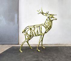 Richard Texier - Deer Bronze sculpture  - Modern and contemporary art