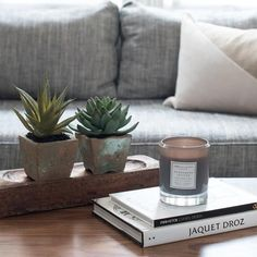 Home Accessories Candles Coffee Tables - RAV 6 PC SET Wooden Tray, Succulents, Books & Candle. Coffee Table Candles, Grey Candles, Coffee Table Size, Coffee Table Books, Home Decor Sets, Home Decor Accessories, Decorative Accessories, Decorative Items, Square Tray