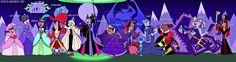 TDI Disney Villains by on DeviantArt Queen Of Hearts Alice, Cruella Deville, Total Drama Island, Fandom Crossover, Girls Rules, Captain Hook, Disney Villains, Maleficent, The Little Mermaid