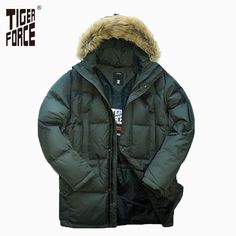 Winter New Brand Raccoon Collar Mens Park Jacket Mens Long Hooded Padded Fashion Warm Winter Clothes Mmens Winter Jacket Reliable Performance Jackets & Coats Men's Clothing