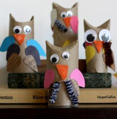 Cute craft project for kids - cardboard owls http://rstyle.me/n/jvvcmnyg6