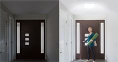 The light in this hallway is transformed with a Solatube Daylighting System.