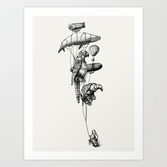 The Helium Menagerie Art Print by Eric Fan - $18.00