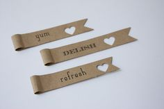I like the heart punches - Personalised Straw Flags (100)