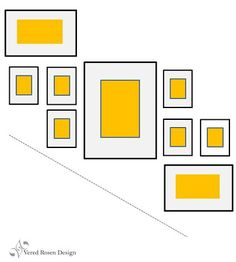 Vered Rosen Design: HOW TO DISPLAY ART - PICTURE GROUPING IDEAS