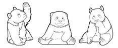 """Chanson """"Trois petits pandas"""""""
