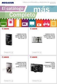 El catálogo más completo de Canon lo tienes en Megasur
