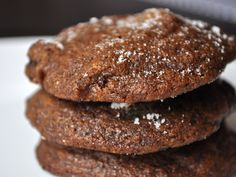 Candied Australian ginger coupled with unsweetened dried cherries gives these holiday cookies a nice fruity chew and a bright tartness that shines through the spicy dough.