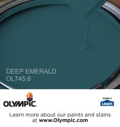 DEEP EMERALD OL745.6 is a part of the aquas collection by Olympic® Paint.