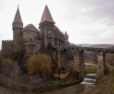 Hunyad Castle in Hunedoara, Romania