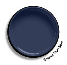 Resene True Blue is an authentic blue with a hint of violet. Try Resene True Blue with bright greens, pastel chartreuses or steamy olives, such as Resene Vitality, Resene Fresh or Resene Grass Hopper. From the Resene The Range fashion colours 18. Latest trends available from www.resene.com/range18. Try a Resene testpot or view a physical sample at your Resene ColorShop or Reseller before making your final colour choice. Cool Color Names, Basic Colors, All The Colors, Colour Schemes, Colour Chart, Resene Colours, Split Complementary, Painted Stairs, Painted Pots