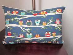 Owl Pillow Cover Accent Pillow Modern Decorative by diningout, $18.00