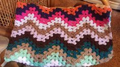 For sale on Etsy - Striking Ripple Crochet Afghan