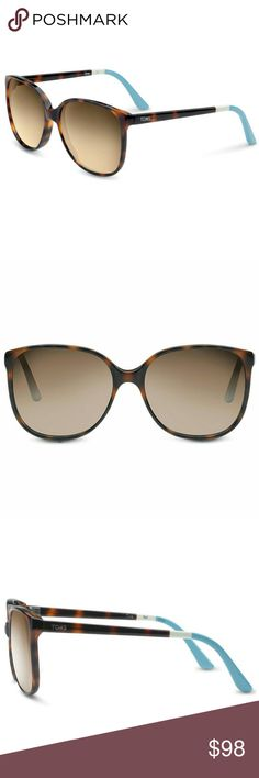 NEW Tom's Sandela Oversized Tortoise Sunglasses Comes to you with everything included when ordered from Tom's: original slip case and cleaning cloth.   Plastic tortoise frames with brown gradient lenses. 140mm temple length. 100% UVA & UVB protection.   Retails for $98.  Reasonable offers considered. TOMS Accessories Sunglasses