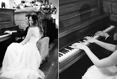 Lacie Hansen Bride and Groom playing a duet. :) if my husband plqys piano were doing this!!:D