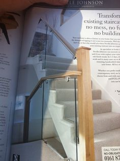 Glass banisters = spacious looking hallway