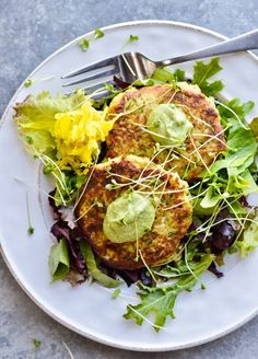 These Crispy Vegetable Fritters are tender on the inside, crispy on the outside, and infused with cumin which is good for digestion. They can be made with or without eggs. Great for vegans or paleo eaters. Simple to make. Delicious for brunch, lunch or light supper. #brunch #veganbrunch #vegan #paleo #easyrecipe #fritters Healthy Brunch, Healthy Salads, Paleo Vegan, Brunch Recipes, Paleo Recipes, Cleanse Recipes, Savory Pancakes, Eating Vegetables, Easy Food To Make