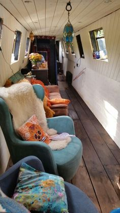 Image result for white painted narrowboat interior