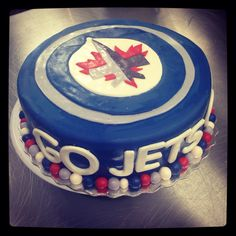 Winnipeg jets cake