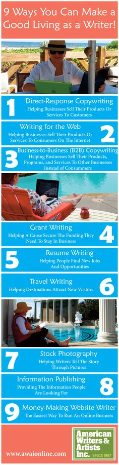 Discover 9 Ways You Can Make a VERY Good Living as a Writer!