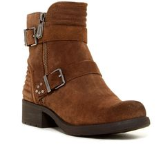 CIRCUS BY SAM EDELMAN Gemma Short Moto Boot ($48) ❤ liked on Polyvore