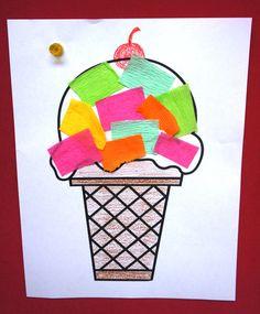 Ice cream craft preschool ice cream art, ice cream crafts, i Kids Crafts, Summer Crafts For Toddlers, Daycare Crafts, Toddler Crafts, Art For Kids, Arts And Crafts, Art Children, Toddler Art, Ice Cream Crafts